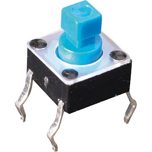 Short-stroke key, square control button FREI FREI