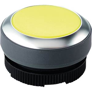 FS+ 22 — push-button — round, black/yellow, can be illuminated RAFI 1.30.270.001/2401