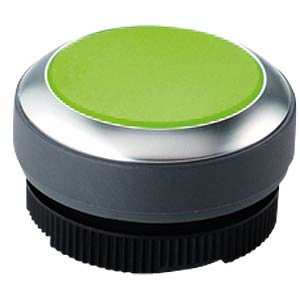 FS+ 22 — push-button — metal, green, can be illuminated RAFI 1.30.270.021/2500