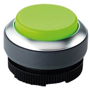 FS+ 22 — push-button — metal, green, can be illuminated, protrud RAFI 1.30.270.221/2500
