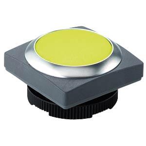 FS+ 22 — push-button — square, metal, yellow, can be illuminated RAFI 1.30.270.071/2400
