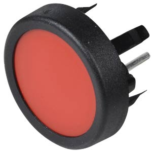 Pushbutton, front mounting, 1-pin, max. 48 VDC, red SCHURTER 1241.1104.7093