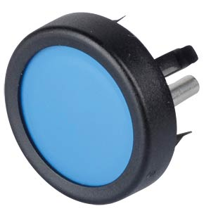Button, front mounting, 1-pin, max. 48 V DC, blue SCHURTER 1241.1113.7094