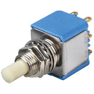 Drucktaster, 1A-125VAC, 2x Ein - (Ein), Lötfahnen APEM 18545AD