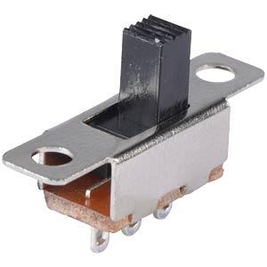 Schiebeschalter-Miniatur, Lötanschluß, 1x UM FREI