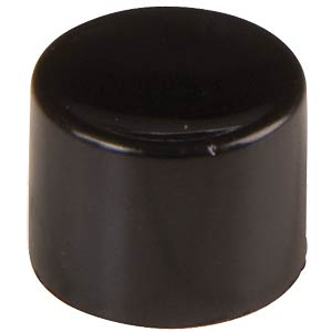 Cap for series 8000 and 18000, black APEM U482