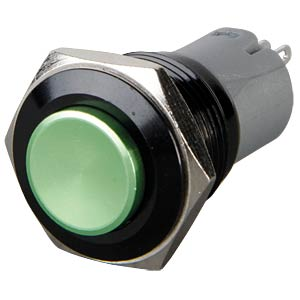Pushbutton, round, 16 mm, 3 A 250 V, green ONPOW LAS2GQG-11-G-A