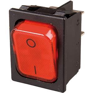 Wippschalter, 2x Aus, beleuchtet, rot, I-O MARQUARDT 01835.3112-01
