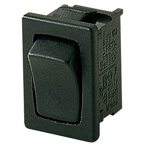 Rocker switch, 1-pin, NO, black MARQUARDT 01801.6222-00
