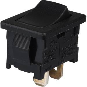 Wippschalter, 1-pol, AUS, schwarz MARQUARDT 01801.1102-01