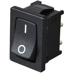 Rocker switch, 1-pin, OFF, black, I-O MARQUARDT 01801.1146-01