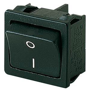 Rocker switch, 2-pin, OFF, black, I-O MARQUARDT 01802.1123-01