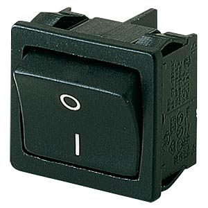 Rocker switch, 2-pin, OFF, black, I-O MARQUARDT 01802.2104-01