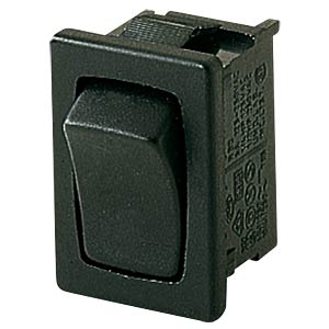 Rocker switch, 1-pin, change-over contact, black MARQUARDT 01803.1202-01
