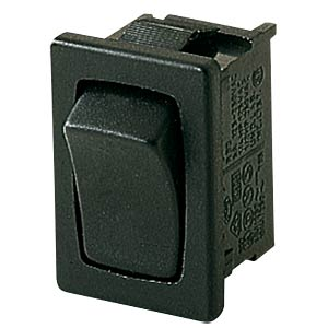 Rocker switch, 1-pin, UM, black MARQUARDT 01803.6102-00