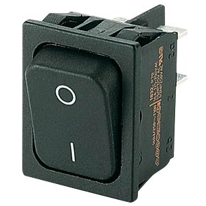 Rocker switch, 2-pin, OFF, black, I-O MARQUARDT 01832.1102-01