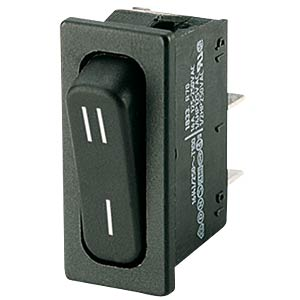 Rocker switch, 1-pin, UM, black, I-II MARQUARDT 01833.3307-00