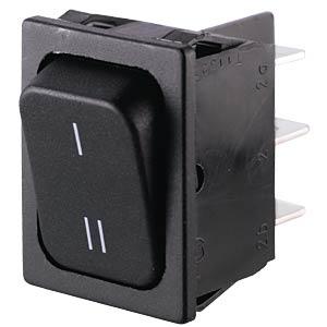 Rocker switch, 2-pin, UM, black, I-II MARQUARDT 01834.3309-00