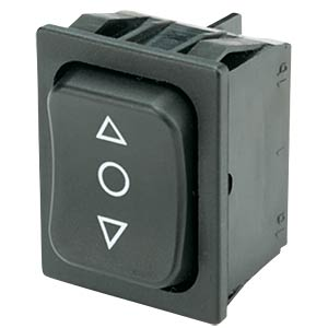 Rocker switch, 2-pin, UM, black <-O-> MARQUARDT 01839.1407-01
