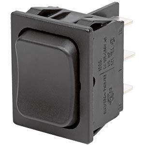 Rocker switch, 2-pin, UM, black MARQUARDT 01839.3502-01