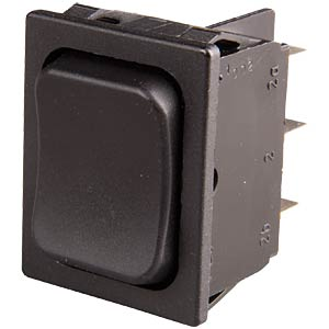 Rocker switch, 2-pin, UM, black MARQUARDT 01839.3402-01