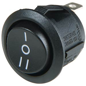 Rocker switch, round, 1x ON - ON SCI-PARTS R13-112 CAAA