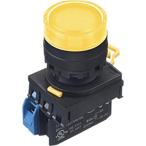 Beleuchteter Einbautaster YW, 22 mm , 1 NO, schwarz IDEC YW1L-AF2E10QM3Y