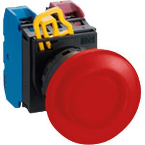 Beleuchteter Einbautaster YW, 40 mm , 1 NO, schwarz IDEC YW1L-M4E10QM3R