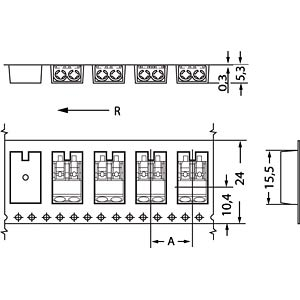 SMD Leiterplattenklemme 1-polig WAGO 2060-421/998-404