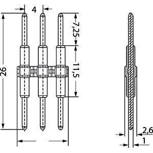 SMD connection element, 3-pole WAGO 2060-903