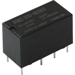 signal relay, 2 CO, 24 V DC, 1 A RND COMPONENTS RND 200-00007