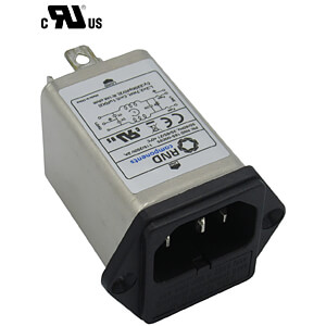 Entstörfilter, 3 A, C14, 6,3 mm Faston RND COMPONENTS RND 165-00035