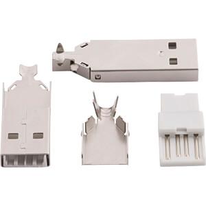 USB-Stecker, Typ A, gerade, Kabelmontage RND CONNECT RND 205-00860