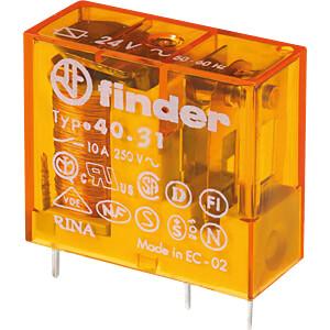Steck-Printrelais, 1 CO, 10 A, 24 V AC FINDER 40.31.8.024.0000