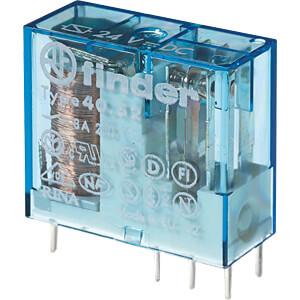 Steck-Printrelais, 2 CO, 8 A, 5 V DC sensitiv FINDER 405270050000