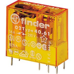 Steck-Printrelais, 1 CO, 16 A, 12 V AC FINDER 406180120000