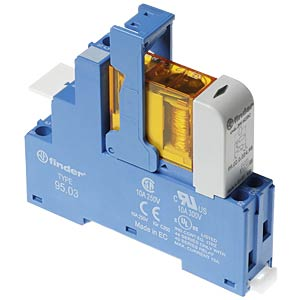Coupling relay, 1 changeover contact, 10 A, 24 V DC FINDER 48.31.9.024.0050