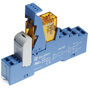 Coupling relay, 2 changeover contact, 8 A, 230 V AC FINDER 48.72.8.230.0060