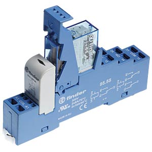 Coupling relay, 2 changeover contact, 8 A, 24 V DC FINDER 48.72.9.024.0050