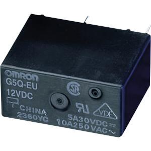 Leistungsrelais, THT, 12 VDC, 10A, 1 Wechsler OMRON G5Q-1-EU DC12