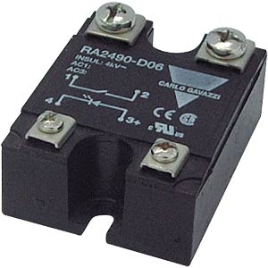 Solid state relay, control voltage = 2 - 32 VDC, load voltage = CARLO GAVAZZI RA2425-D06