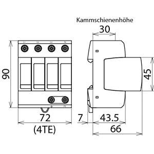 Parafoudre type 2, TN-S DEHN+SÖHNE 952400