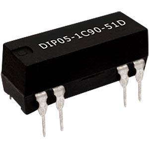Reed relay, DIL, 24 V, 1 NO, 2 A, with diode MEDER 3224131116