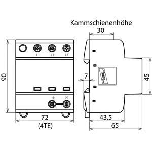 Kombiableiter Typ 1+2, TN-C DEHN+SÖHNE 941300