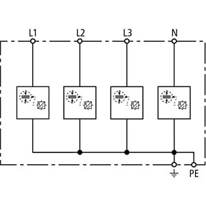 Kombiableiter Typ 1+2, TN-S DEHN+SÖHNE 941400
