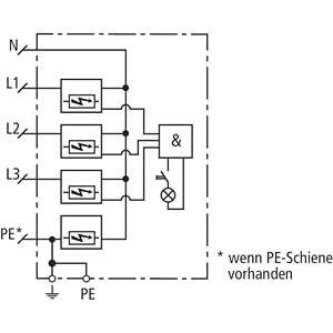 Kombiableiter Typ 1+2, TT + TN-S DEHN+SÖHNE 900396