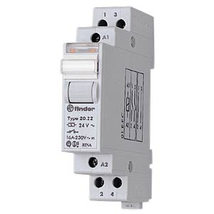Impulse switch, 2 x one, 250 V/20 A, 24 V FINDER 20.22.9.024