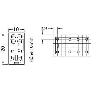Kartenrelais, 2x UM, 125V 2A, 12V FINDER 30.22.9.012