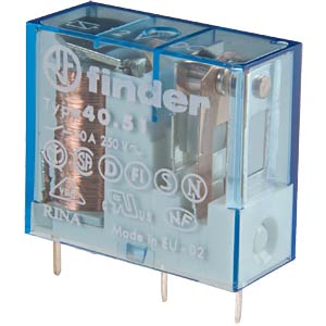 Plug-in relay, 1x UM, 250 V/ 10A, 6 V, RM 5.0 mm FINDER 40.51.9.006
