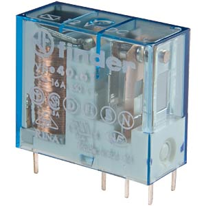 Plug-in relay, 1x UM, 250 V/ 16A, 6 V, RM 5.0 mm FINDER 40.61.9.006.0000